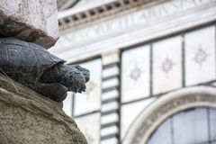 Statue of turtle on the street in Florence, Italy Stock Photo