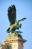 Statue of Turulbird at the Royal castle in Budapest Stock Image