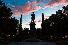 Statue on Twilight Royalty Free Stock Photography