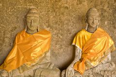 Statue of two Buddha Royalty Free Stock Photos