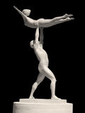 Statue of two gymnasts Stock Image