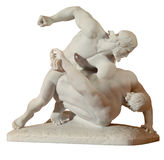 Statue of two men wrestlers Stock Image