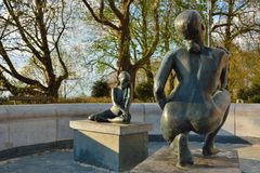 Statue of two naked woman Royalty Free Stock Photography