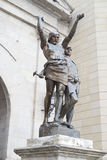 Statue of two warriors in the city of Lleida Stock Images