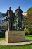 Statue of Tycho Brahe and Johann Kepler, Prague, Czech republic Royalty Free Stock Photos