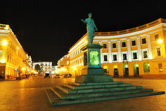 statue Ukraine de richelieu de duc Odessa Photos libres de droits