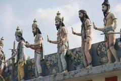 Statue umane sul tempiale indiano Fotografie Stock