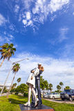 Statue Unconditional surrender by Seward Johnson Stock Photos