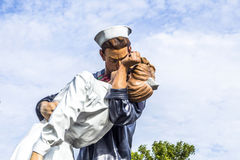 Statue Unconditional surrender by Seward Johnson Royalty Free Stock Image