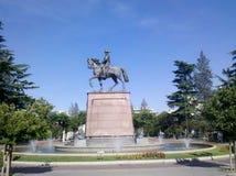 Statue und Brunnen Lizenzfreies Stockbild