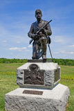 Statue of Union Soldier at Gettysburg. Statue of a Pennsylvanian cavalryman at Gettysburg Royalty Free Stock Photo