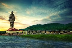 Statue of unity stock image