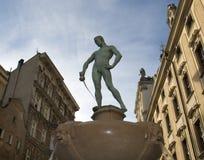 Statue-Universität von Wroclaw Polen Stockbild