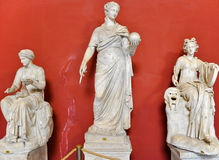 Statue Urania in Vatican museum. Rome, Italy. Stock Photos
