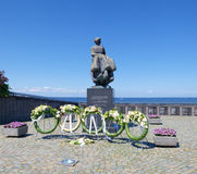 Statue in urk, netherlands Royalty Free Stock Photo