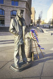Statue of US Sailor with memorial Wreath, Washington, DC stock image