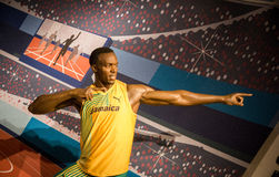 Statue of Usain Bolt Stock Images