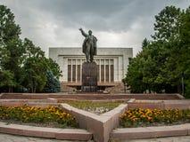 Statue of V.I. Lenin in capital city of Kyrgyzstan - Bishkek royalty free stock photography