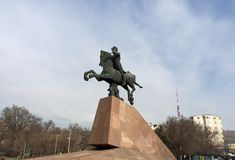 The statue of Vardan Mamikonian in Yerevan. Royalty Free Stock Photos