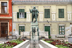 Statue of Varkocs in Sopron Royalty Free Stock Images