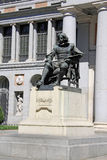 Statue of Velazquez in front of the National Prado Museum in Madrid, Spain Stock Photos