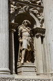 Statue of the venetian noble Francesco Barbaro Stock Photos