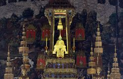 Statue verte de Bouddha Photo stock