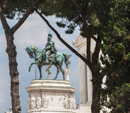 Statue of Victor Emmanuel II Royalty Free Stock Photography