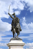 Statue of Victor Emmanuel II (Vittorio Emmanuele II) at San Marco Square, Venice - Italy Royalty Free Stock Photos