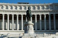 Statue of Victor Emmanule II in Rome. Altare della Patria in Rome, Italy Stock Photos