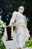 Statue of Victor Hugo. In Rome, Italy royalty free stock photos