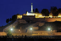 Statue of Victor in Kalemegdan fortress, Belgrade Royalty Free Stock Images