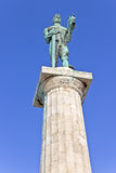 Statue of the Victor or Statue of Victory symbol of Belgrade Stock Photography