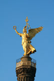 Statue of Victoria. On the Victory column (Siegessaulle) in Berlin royalty free stock images