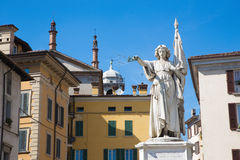 The statue of victory as the memorial of Italian war again Austria on the Piazza della Loggia square - Monumento alla Bella Italia Royalty Free Stock Images