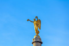 Statue of Victory atop the Fontaine вг Palmier (1806-1808), Pa Stock Photography