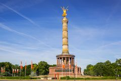 Victory Column in Berlin. Statue on the Victory Column in Berlin, Germany Royalty Free Stock Photo
