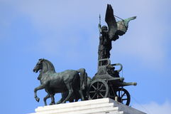 Statue of Victory driving the quadriga Royalty Free Stock Photos