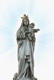 Statue Vierge Marie et de Jésus-Christ Images libres de droits