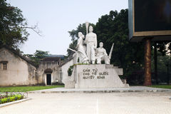 Statue of Viet Cong warriors Royalty Free Stock Photos