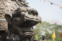 A statue in Vietnam's Pagoda Stock Photography