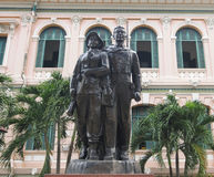 Statue of Vietnamese national defense soldier Royalty Free Stock Photo