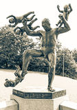 Statue at Vigeland park - Oslo, Norway royalty free stock photo