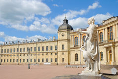 Statue 'Vigilance' near the Gatchina Palace  Stock Photos