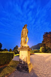 Statue of Villa Olmo in Como town by night Stock Photography