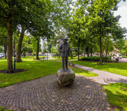 Statue of Vincent van Gogh in Nuenen. Nuenen, the Netherlands, June 26, 2013: statue of Vincent van Gogh in the Park by Klaas van Rosmalen Royalty Free Stock Photos