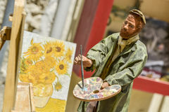 Statue of vincent van gogh. Painting Stock Images