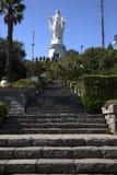 Statue of Virgin Maria in Santiago de Chile in South America Stock Image