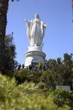 Statue of Virgin Maria in Santiago de Chile in South America Royalty Free Stock Photo