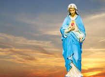 Statue of the Virgin Mary Royalty Free Stock Photo